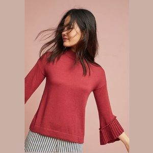 Anthropologie Eri + Ali | Pleated Sleeve Sweater